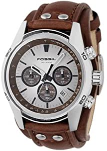 Fossil Men's CH2565 Cuff Chronograph Tan Leather Watch from FOSSIL