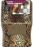 Impulse Merchandisers 44066 Fashion Leopard Carpet Floor Mat Set - 4 Piece