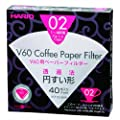 Hario Box of Paper Filters for 02 Dripper, 40 Sheets, White