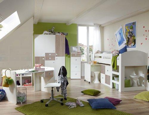 Jugendzimmer »DAYLIGHT« 4-tlg in alpinweiß – Eiche sägerau jetzt bestellen