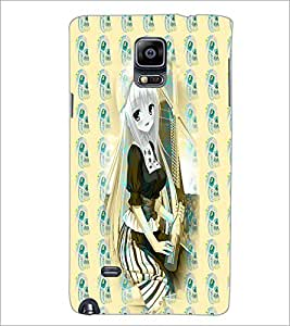 PrintDhaba Cute Girl D-3280 Back Case Cover for SAMSUNG GALAXY NOTE 2 (Multi-Coloured)