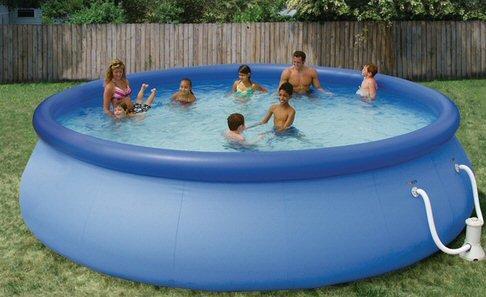 summer escapes 18 x 48 quick set swimming pool set appliances for home. Black Bedroom Furniture Sets. Home Design Ideas