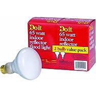GE Private Label 81610 Do it BR30 Floodlight Light Bulb-2PK 65W REFLECTOR BULB
