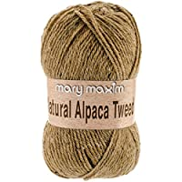 Mary Maxim Y083-304 Natural Alpaca Tweed Yarn, Sand Dune