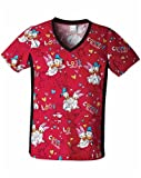 Tooniforms Women's Cherokee V-Neck Knit Panel Scrub Tops