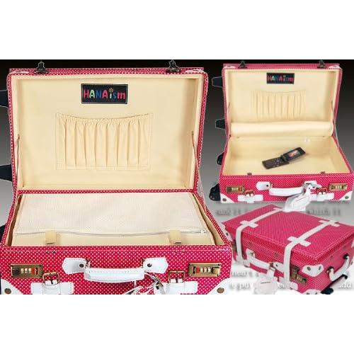 ハナイズム トランクキャリーバッグ - HANA ism -S11 ドットピンク/キャリーケース・スーツケース