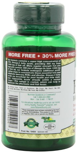 Nature 39 s bounty fish oil 1400 mg triple strength one per for How many mg of fish oil per day