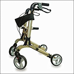 KosmoCare Premium Imported Euro Style Folding Rollator - Golden Edition (Made in EU)