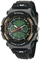 Armitron Men's 201437GRN Chronograph Analog-Digital Instalite Black Sport Watch from Armitron