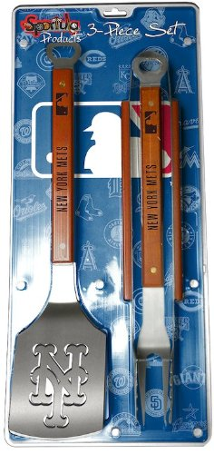 SPORTULA 3-PIECE BBQ SET - NEW YORK METS at Amazon.com