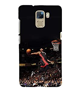 printtech Basketball Stadium Player Back Case Cover for  Huawei Honor 7 Enhanced Edition / Huawei Honor 7 Dual SIM with dual-SIM card slots