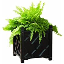 Square Solid Wood Planter