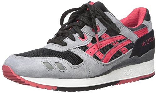 ASICS GEL-Lyte III Retro Running Shoe, Black/Classic Red, 10.5 M US