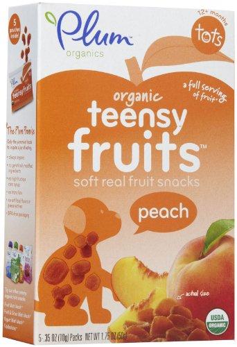 Plum Organics Tots Teensy Fruits - Peach - 1.75 oz - 1