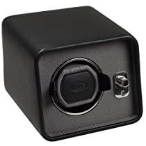Wolf Designs 4524029 Windsor Collection 2.5 Single Watch Winder, Black