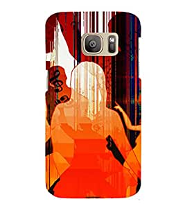 PrintVisa Dance Party Music Art 3D Hard Polycarbonate Designer Back Case Cover for Samsung Galaxy S7