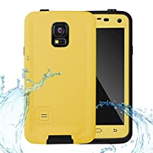 buy Galaxy S5 Waterproof Case, Waterproof Shockproof Snowproof Dirtproof Durable Full Protection Case Cover With Headphone Adapter For Samsung Galaxy S5 (Yellow)