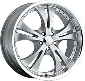 Vision Shockwave 17 Silver Wheel / Rim 5x100 with a 42mm Offset and a 74.1 Hub Bore. Partnumber 539D7744SML42