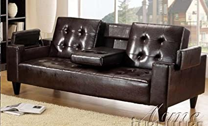Bruce Espresso Bycast Adjustable Sofa Bed by Acme Furniture