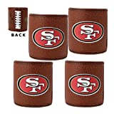 NFL San Francisco 49ers Four Piece Football Can Holder Set