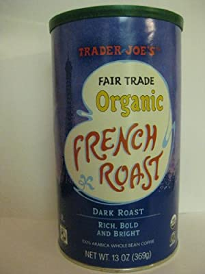 2 Pack Trader Joe's Fair Trade Organic French Roast Dark Roast Whole Bean Coffee