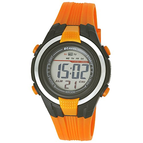 ravel-lcd-digital-water-resistant-sports-boys-digital-watch-with-black-dial-digital-display-and-oran