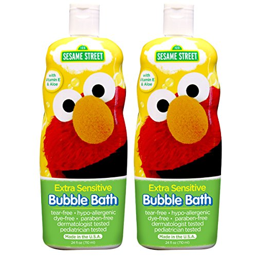 Sesame Street Bubble Bath Extra Sensitive, 24 Ounce (Pack of 2) - 1