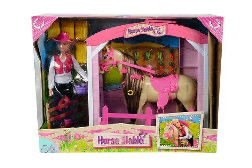 Simba 10 573 0373 - Steffi Love, Stalla per cavalli, inclusi accessori