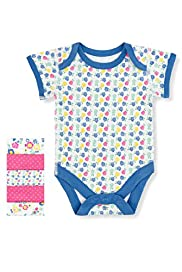 5 Pack Pure Cotton Vintage Style Assorted Bodysuits