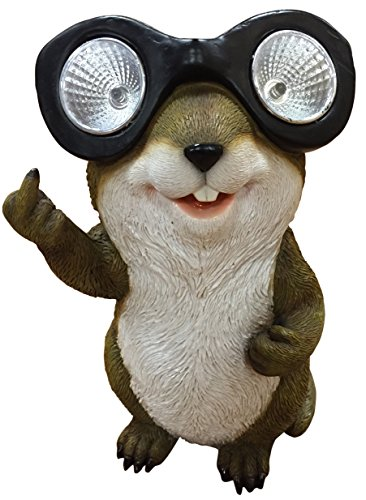 Funny Groundhog with Double Solar Light Goggles - Standing and Flipping