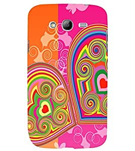 Printvisa Double Hearts Pattern Back Case Cover for Samsung Galaxy Grand Neo::Samsung Galaxy Grand Neo i9060::Samsung Galaxy Grand Neo Plus::Samsung Galaxy Grand Neo Plus i9060i