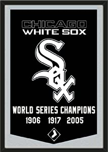Dynasty Banner Of Chicago White Sox With Team Color Double Matting-Framed Awesome... by Art and More, Davenport, IA