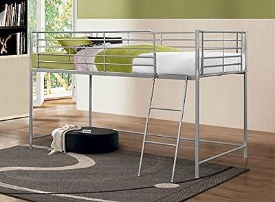 Happy Beds Luna Bed Midi Sleeper Metal Silver Finish Modern Kids Bedroom