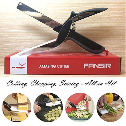 Clever Cutter 2-in-1 Nahrungsmittelzerhacker - Ersetzen Sie Ihre Küchenmesser und Schneidbretter , Babynahrungsergänzungs Schere