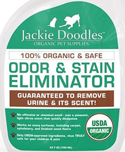 Urine Eliminator & Cleaner: Fast, Easy, Safe Pet Odor Removal, No Scent Left, 100% Organic, Guaranteed To Work - Best Gift For New Puppy Or Kitty Owners As It Works On Tile, Hardwood Floors, Carpet, Cages And Litter Boxes front-40724