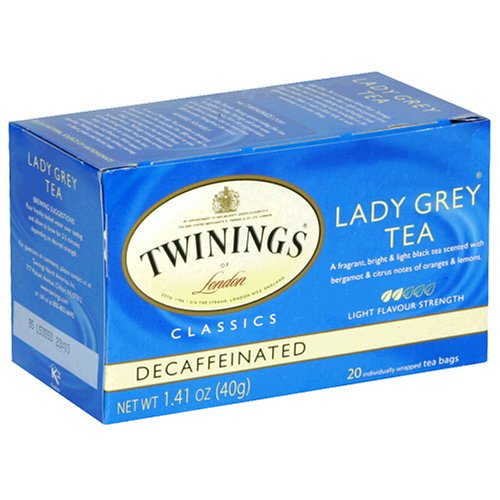 Buy Twinings Lady Grey Decaf Tea, Tea Bags, 20-Count Boxes (Pack of 6) (Twinings, Health & Personal Care, Products, Food & Snacks, Beverages, Tea)