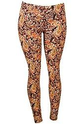 Classic Fall Colors Paisley Print Leggings
