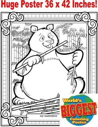 Just For Laughs World's Biggest Coloring Posters- Panda Bear