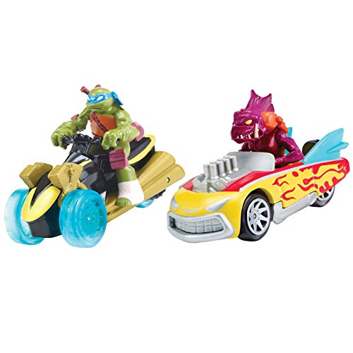 Teenage Mutant Ninja Turtles T-Machines Leonardo in AT-3 and Fishface in Shellcrusher Diecast Vehicle (2-Pack) - 1