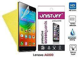 """Unistuffâ""""¢ Super Clear Screen Guard for Lenovo A6000"""