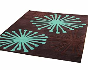 Rugs With Flair Infinite Starburst Oblong Rug, 160 x 220 cm, Chocolate/ Teal       reviews