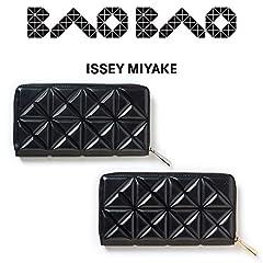 [セット品] ラッピング済 BAO BAO ISSEY MIYAKE GRAM WALLET レザー ラウンドファスナー 長財布 国内正規品 BAOBAO バオバオ イッセイミヤケ グラム ウォレット (ブラック×ゴールド)
