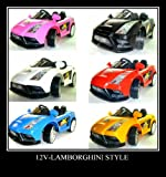 New 12v electric Lamborghini Style kids Ride on Car with remote control- BLUE