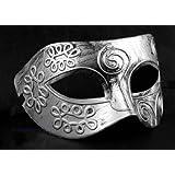 Retro Silvery Roman Gladiator Halloween Party Masks Men's Masquerade Mask