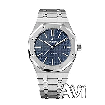 Audemars Piguet Royal Oak Stainless Steel Watch 41mm Blue Dial 26320st.oo.1220st.03