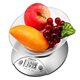 Etekcity 11lb 5kg Digital Kitchen Food Scale, Volume Measurement Supported, Silver