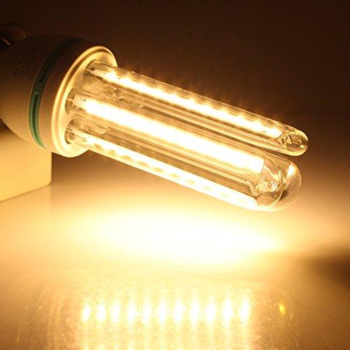 E27 Led Corn Bulb Lamp 12W Warm White Ac85-265V 60Smd 2835 Led Bulb U Shape 360 Degrees Super Bright Pack Of 3