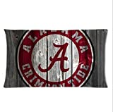 New Arrival Pillowcases Cover Alabama Crimson Tide wooden Pillowcase 20*30 inches Inch top design Pillow Cover Cases Two Sides Printed