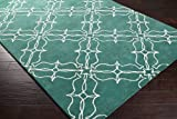 Aimee Wilder by Surya AIW-4008 Transitional Hand Tufted 100% New Zealand Wool Lagoon 5' x 8' Geometric Area Rug