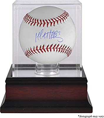 Matt Duffy San Francisco Giants Autographed Baseball and Mahogany Baseball Display Case - Fanatics Authentic Certified